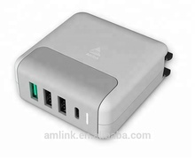 Charging Station Desktop 5 ports multi USB charger with Intelligent Identification for Smart Phones and Electronics Devices