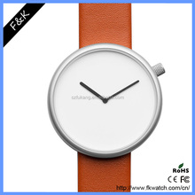 Top brand Italian calf leather strap ultra thin slim watch
