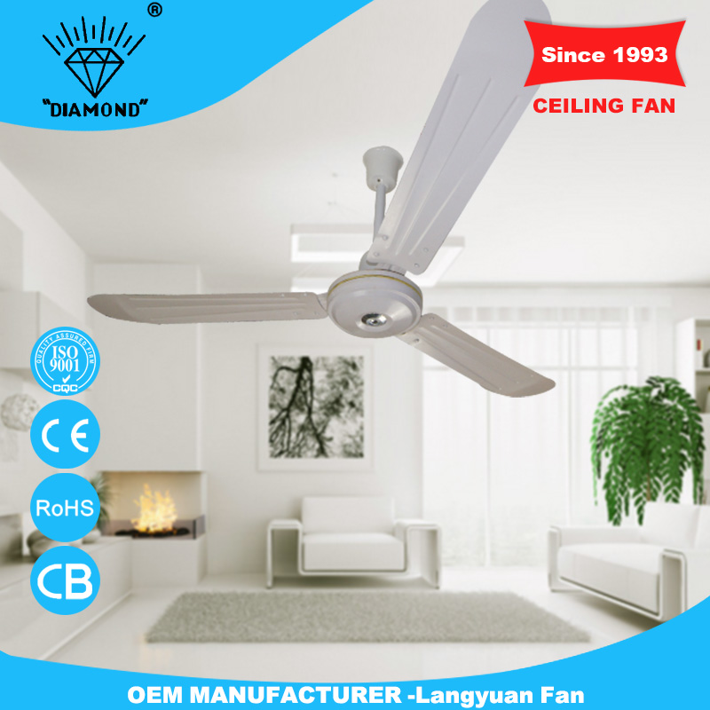 fashionable 56'' white high rpm ceiling fan with low price