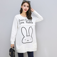 Rabbit Pattern Blouses Maternity Wear Tops Pregnant Woman Breastfeeding Clothes