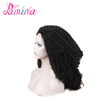 100% natural synthetic lace front afro wig unprocessed indian women hair wig