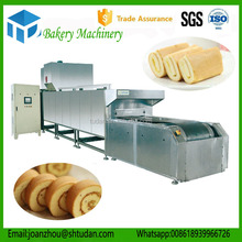 Baking gas/electric tunnel hot air oven for cake making machine low price automatic swiss roll cake making machine manufacturer