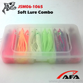 Wholesale high quality 12cm light green glow octopus skirt soft plastic fishing lure PVC box packing JSM FISHING