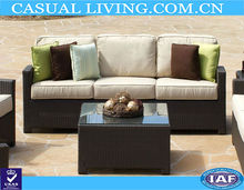 new design 3 seater rattan sofa
