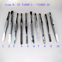 stainless steel tweezer mirror polish tweezers led lights tweezer