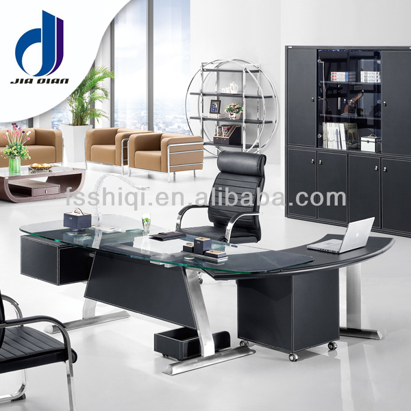Modern tempered glass office executive table/office desk/office manager table(F-14)