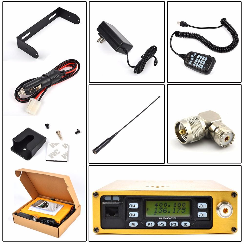 Mobile Car Radio Ham Transceiver Dual Band 25W UHF VHF Portable For Ham//Amateur
