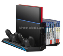 Cooling Fan With Controller Charging Station Cooler+Game CD Storage Holder+Vertical Stand For PS4 Console