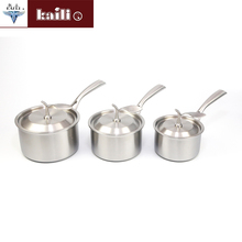 Induction Cooker Turkish Stainless Steel Coffee Boiling Butter Warmer Milk Pot With lid