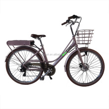 Stylish 700C City Electric Bicycle With 250W Bafang Motor