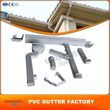 "Foshan Roofing Materials China Supplier 5Inch 7"" Square Gutter Hooks, Durable Pvc Rain Gutter Size"