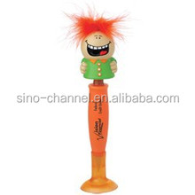 Wholesale funny cartoon orange hairy pen