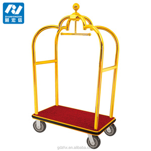 Steel luggage trolley luggage cart for hotel