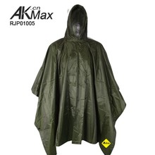 Army Navy Camping Outdoor Breathable Rain Cape/ Military Poncho
