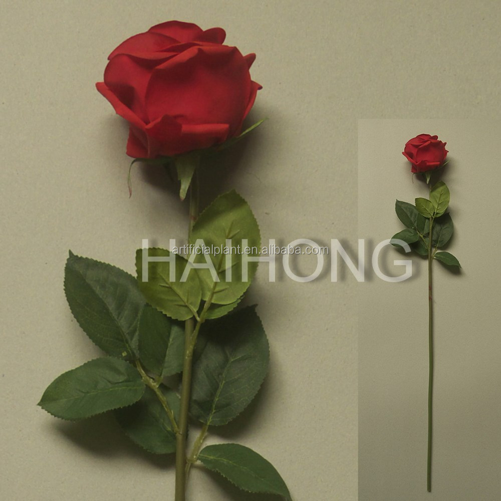 artificial single high natural touch rose flower