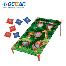 Outdoors small plastic corn 5 hole kids game sport bean bag toss game for training