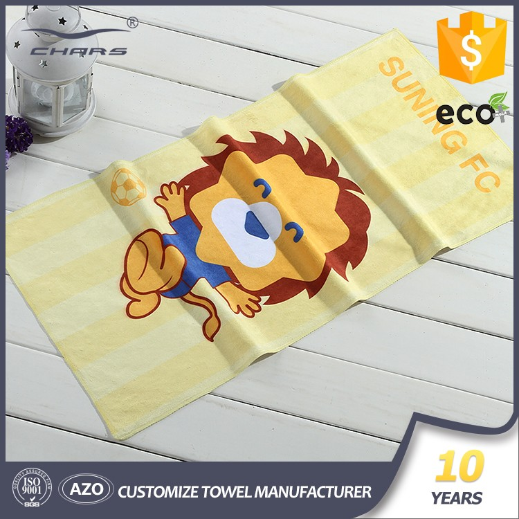 China Wholesale bulk Custom Knitted -fabric craft digital printed craft logo microfiber material printed towel with SGS AZO