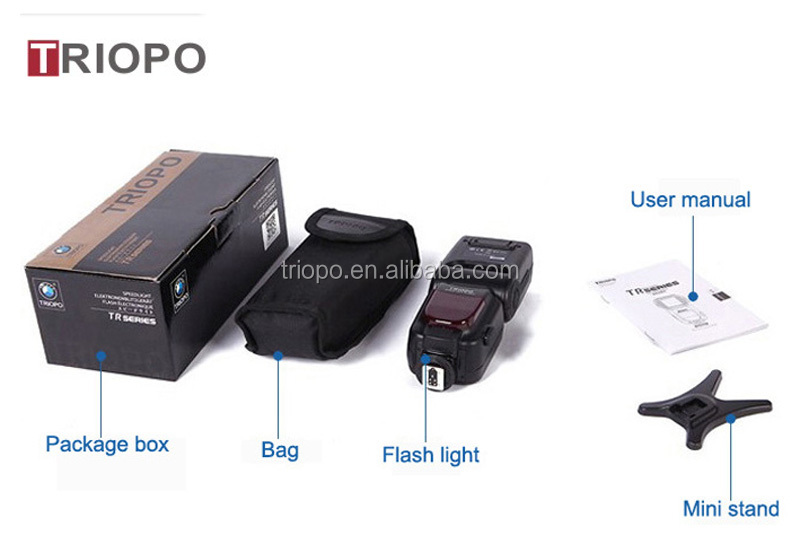 TRIOPO TR-988 camera flash light ,speedlite with TTL , flash gun with universal mount and auto zoom for NIkon and Canon