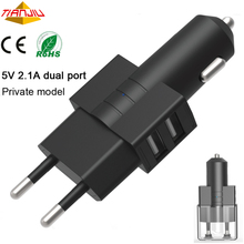 5V 2.1A New 2 Port Usb 2 In 1 Car Mobile Wall Charger Samrt Phone Electric Car Usb Charger