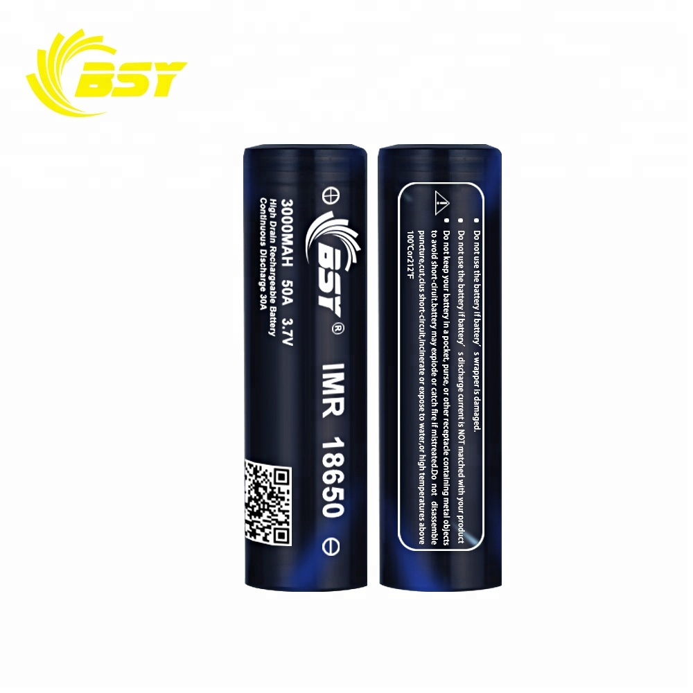 New arrival 18650 BSY battery cell BSY 18650 3000mah 50A battery