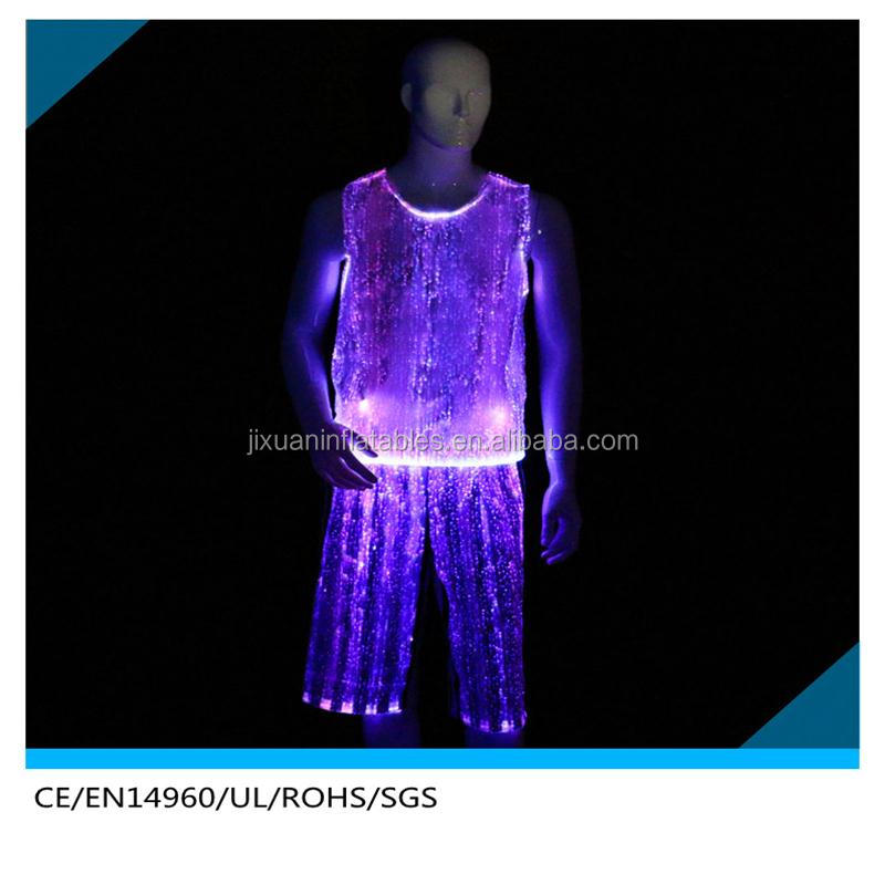 LED Light Dance Wear / Stage Show Clothes / Fiber Optic Clothing