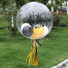 Partigos Super Clear PVC Helium Balloon Perfect Round Transparent Without Wrinkled Balloons Wedding Bubble Ball Party Decoration