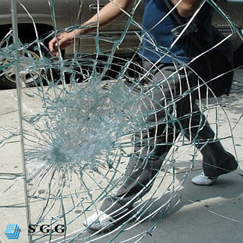 Good quality toughened laminated glass for bullet resistant
