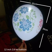 12 inch non-flahing LED party balloon white light