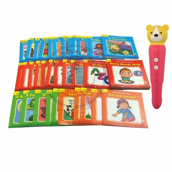 OID Digital Pen and 50 English Books Jingle Jingle Phonices Reader for Kindergarten Kids