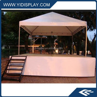 Outdoor event tent with aluminum portable stage