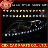 Soft Flexible Car LED Daytime Running Light 41CM High Power Dual Colors White + Yellow LED DRL Strip for Most Headlight Type K5