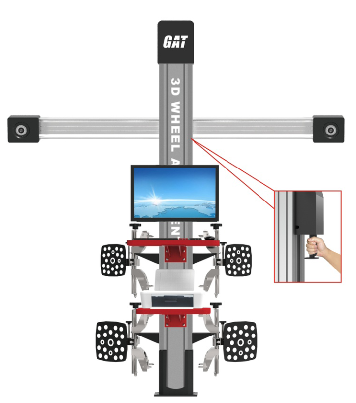Latest Easy Operation Manual Adjustment 3D Wheel Alignment/ wheel alignment machine