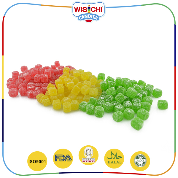 Mixed fruit flavor healthy snack halal sour gummy candy