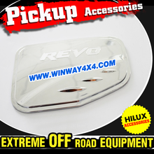 Pickup Truck Accessories Chrome Fuel Tank Cover Trim For 2015 Toyota Hilux Revo