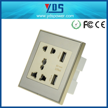 Hot sale wall socket Double USB chager port socket wall outlet dimensions