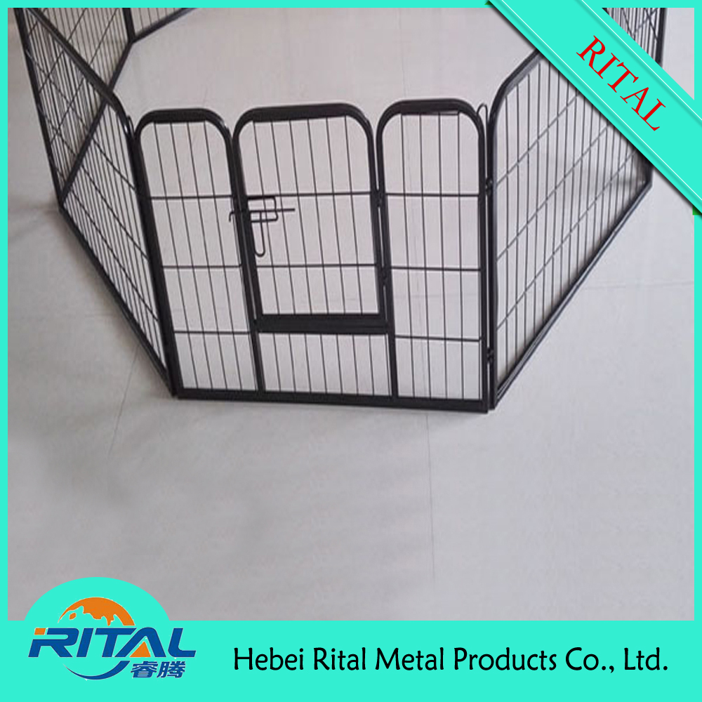 Metal Dog Puppy Rabbit Animal Playpen Run Cage 8 Sided Enclosure Training Pen