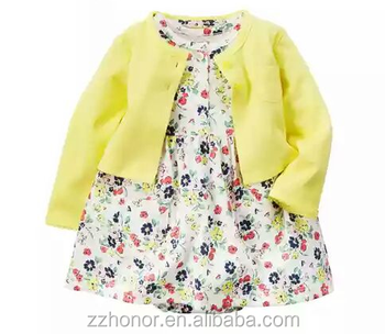 Wholesale 2pcs garment, pure cotton girl set, coat + skirt, factory outlet bodysuit