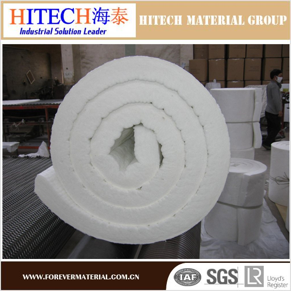 Heat resistance bio-soluble ceramic fiber blanket for water heater linings