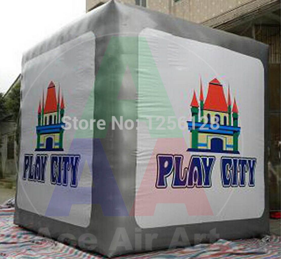 With Fan For Sale Big Standing Advertising Inflatable photo booth Cube