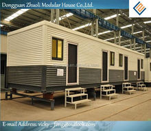 Modular prefab home kit price,low cost 40hq comfortable labor camp container house in south africa