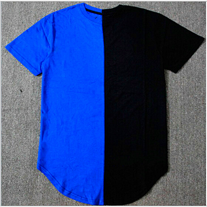 HP66 Cheap Wholesale Two Color Blank T-shirt Longline T Shirt Manufacture In China