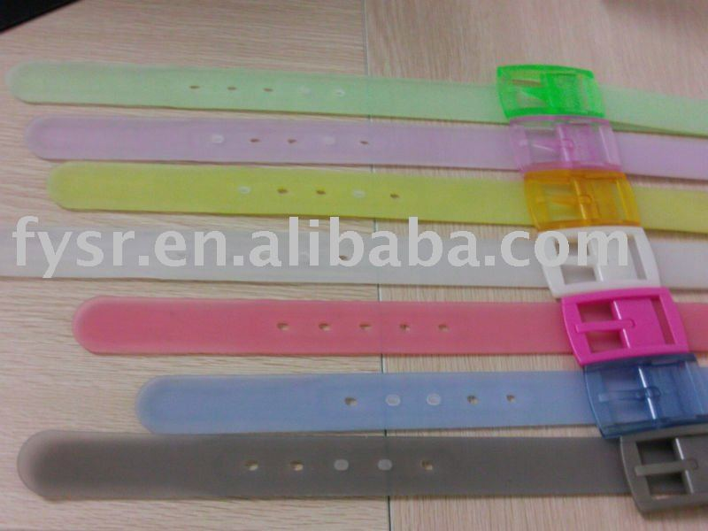 2013 Custom printed translucent silicone belt in fashion