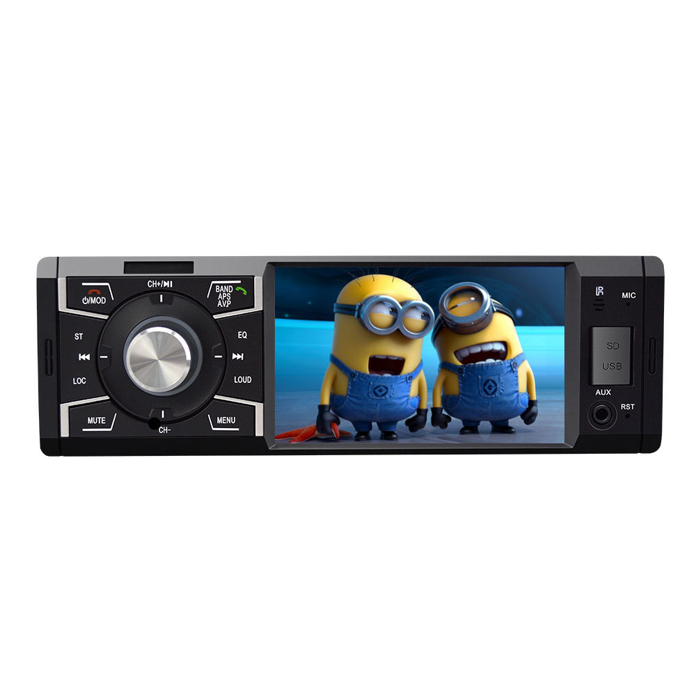 professional car audio system 1 din USB SD slot bluetooth mp5 player