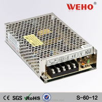 Hot sale Single output voltage ac dc 60w switching 12v power supply