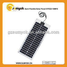 High quality 22W flexible solar panel/mono solar panel for houseboat/yacht boat RV, boat use with competitive price
