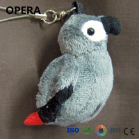 fancy fashion gifts high quality custom birds plush animal stuffed african grey parrots
