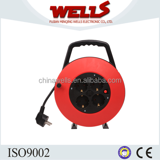 European Type Electric Extension Reel, Cable Reel Socket