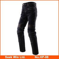 Sports Moto Dirt Bike Trousers Motorbike Motorcycle Riding Jeans with Kneepad Denim Motorcycle Pants