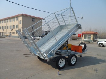 8x5ft Hot Dip Galvanized Tipping Trailer