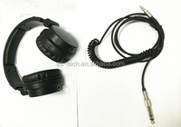 Mobile phone use and dj style headphones 2014 new products best stereo headphone with 6.3+3.5mm jack